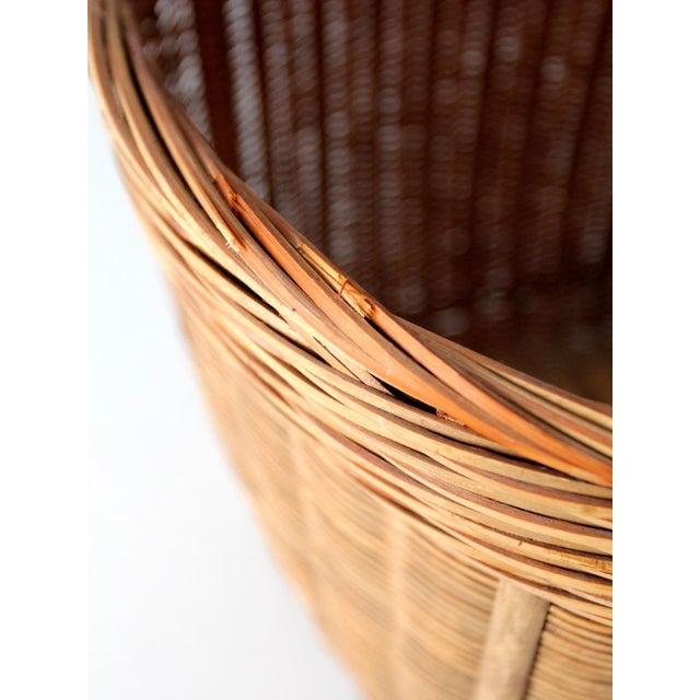 Vintage Woven Reed Basket - Image 6 of 10