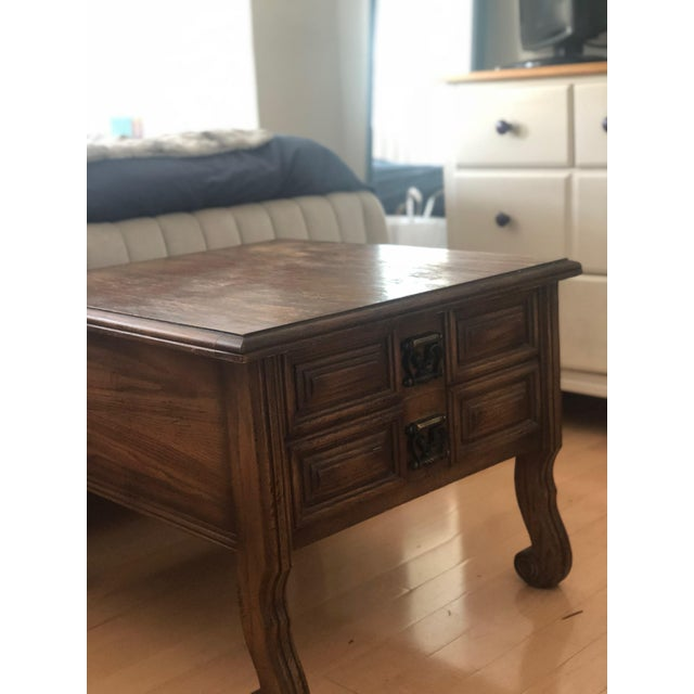 Beautiful, cared for American of Martinsville mid-century side table. Solid wood and a beautiful accent, this table has...
