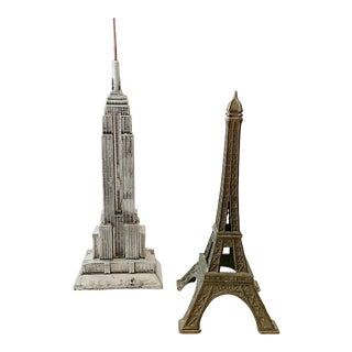Empire State Building and Eiffel Tower Buildings For Sale