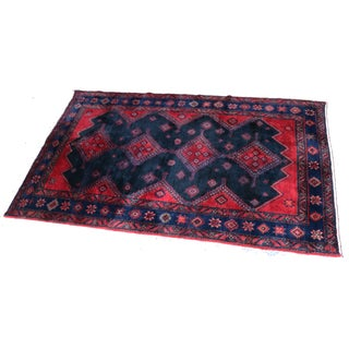 Hand-Knotted Hamadan Persian Rug - 7' x 4' For Sale