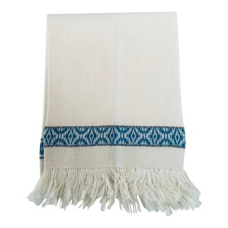 Antique Linen Fringed Guest Towel For Sale
