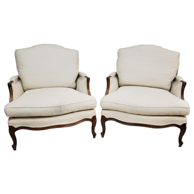 Pair of Vintage Queen Anne Wingback Chairs For Sale - Image 13 of 13