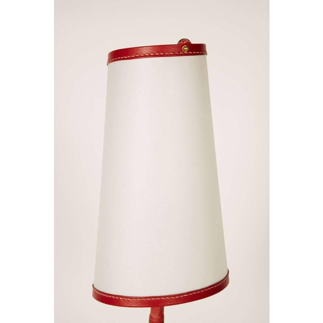 French 1950s Lamp by Jacques Adnet For Sale - Image 3 of 10