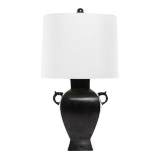 Lawrence & Scott Sakana Table Lamp in Brass For Sale