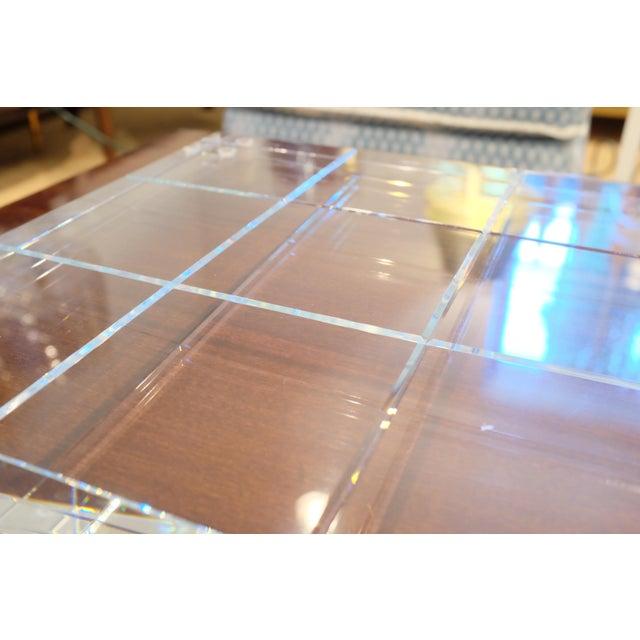 Blue Modern Crystal Game Board For Sale - Image 8 of 11