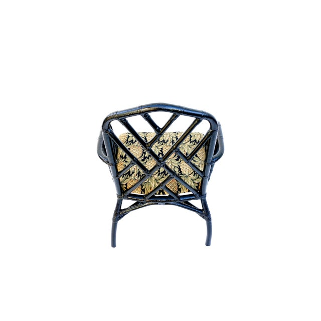 Palecek Vintage Bamboo Chippendale Arm Chairs - A Pair For Sale - Image 4 of 12