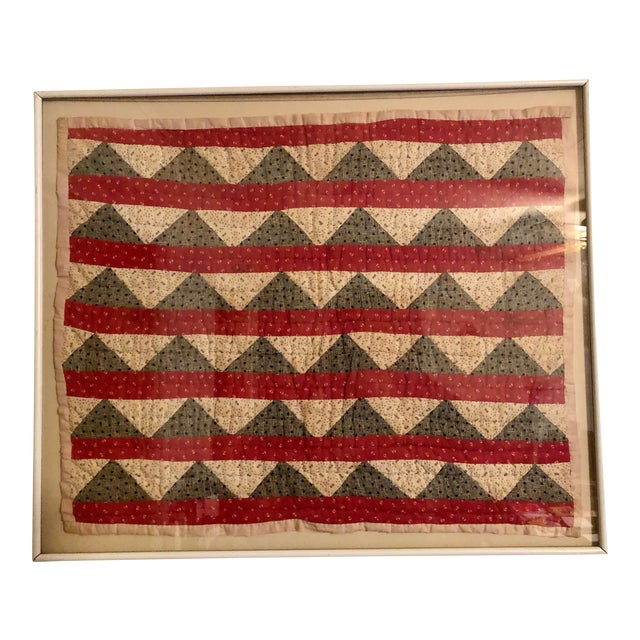 Early 20th Century Framed Doll Quilt For Sale