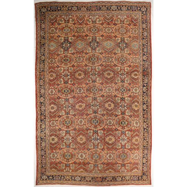 1920s Vintage Persian Sultanabad Rug - 10′4″ × 16′ For Sale - Image 10 of 10