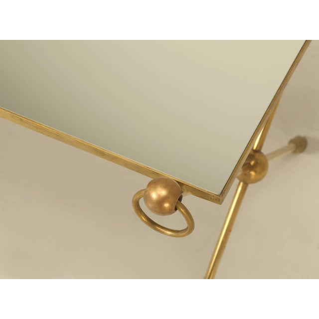 French French Mid-Century Modern Coffee Table With Bronze Hoof Feet For Sale - Image 3 of 9