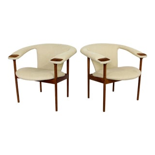 Mid Century Modern Adrian Pearsall Wood Lounge Armchairs - a Pair For Sale