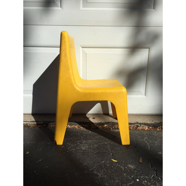 Modern Yellow Child's Chair - Image 3 of 8