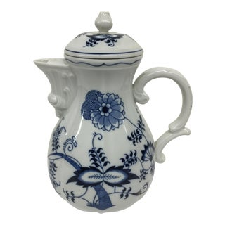 Blue Danube Floral Coffee Pot For Sale