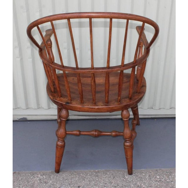 18th Century Sack Back Extended Arm Windsor Chair - Image 5 of 9