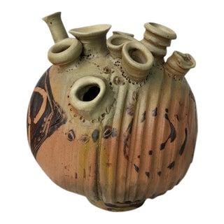 1970s Vintage Sculptural Studio Pottery Vase For Sale