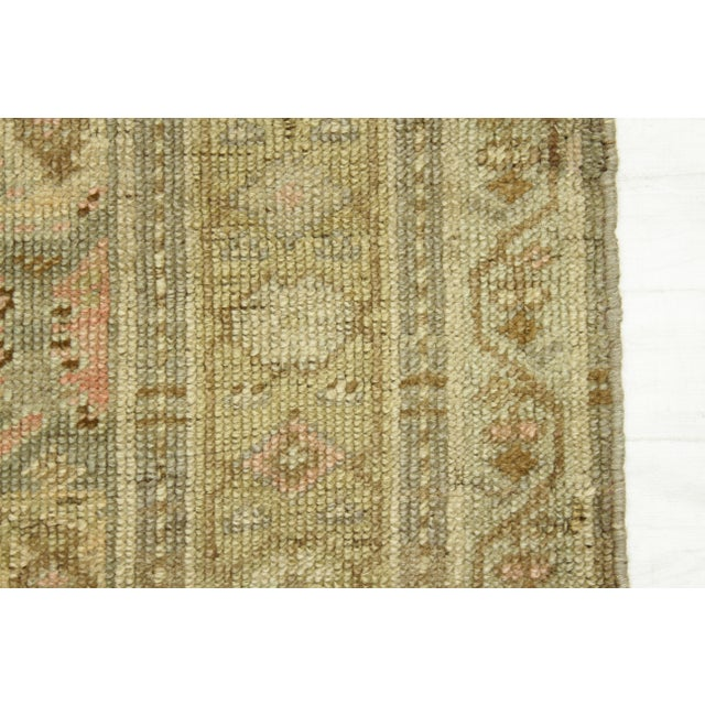 Textile 1920s Vintage Persian Kurdish Style Rug - 3′1″ × 9′3″ For Sale - Image 7 of 11