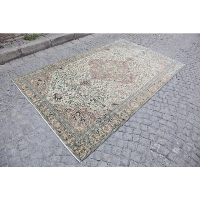All Of My Rugs Are Vintage And Unique Turkish Rug. The Rug Has Been Washed Via A Professional Washer.