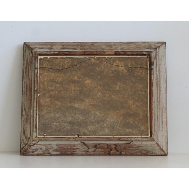 Vintage Sailboat Painting In Weathered Frame - Image 6 of 6