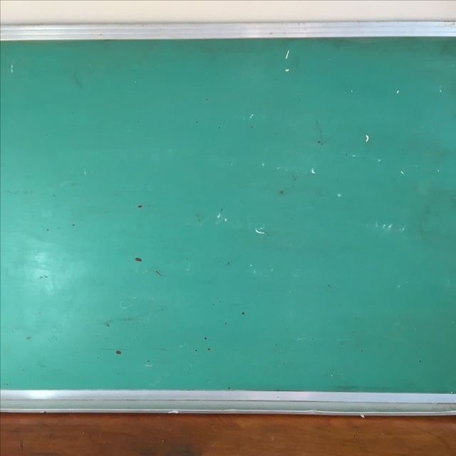 Vintage Green Wall Mounted Chalkboard - Image 5 of 6