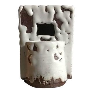 Modern Glazed Ceramic Hanging Vase For Sale