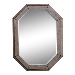 Maitland-Smith Octagonal Tessellated Stone Mirror For Sale