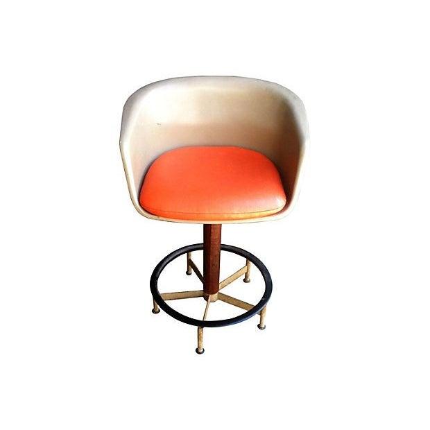 Saarinen Style Swivel Bar Stool By Burke - Image 2 of 6