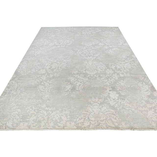 Kafkaz Peshawar Cole Gray & Ivory Wool Rug - 8'1 X 11'7 For Sale In New York - Image 6 of 7