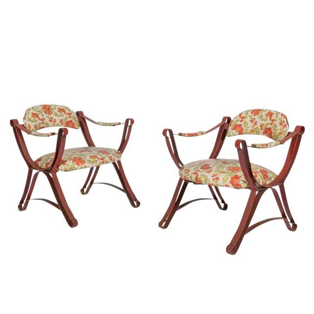 20th Century Boho Chic Savonarola Style Chairs - a Pair For Sale
