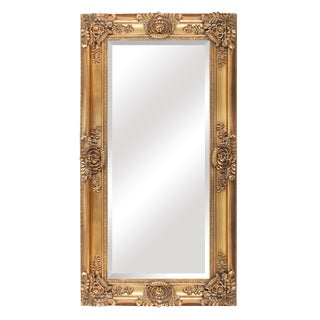 French Traditional Mayfair Gold Leaner Mirror For Sale