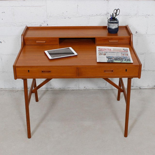 Iversen Danish Teak Writing Desk - Image 8 of 8