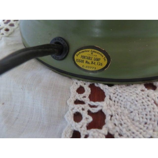 Underwriters Laboratories Green Brass, Underwriters Laboratories Portable Lamp E 20773