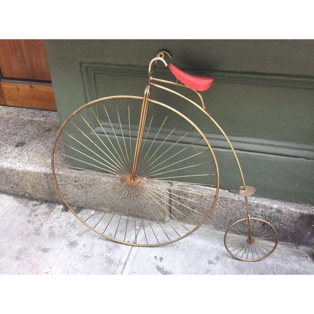 Mid-Century Modern Curtis Jere Big Tire Bicycle For Sale - Image 3 of 3