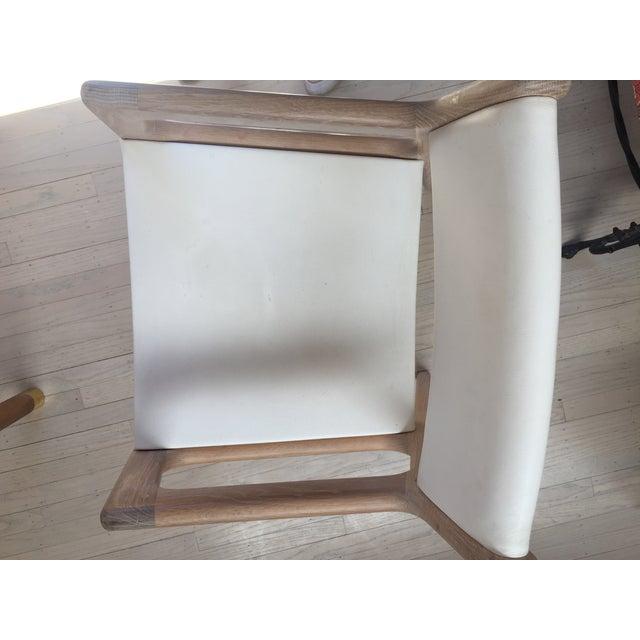 Off-white Contemporary De La Espada White Oak Deer Armchairs - a Pair For Sale - Image 8 of 11