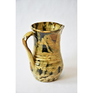 20th Century Primitive Hand-Thrown Studio Pottery Pitcher Preview