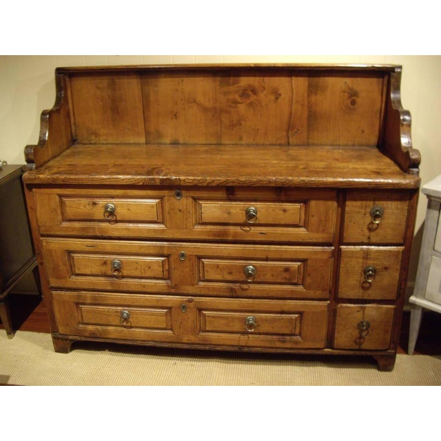 Brown Early 19th Swiss Rustic Kitchen Commode For Sale - Image 8 of 10