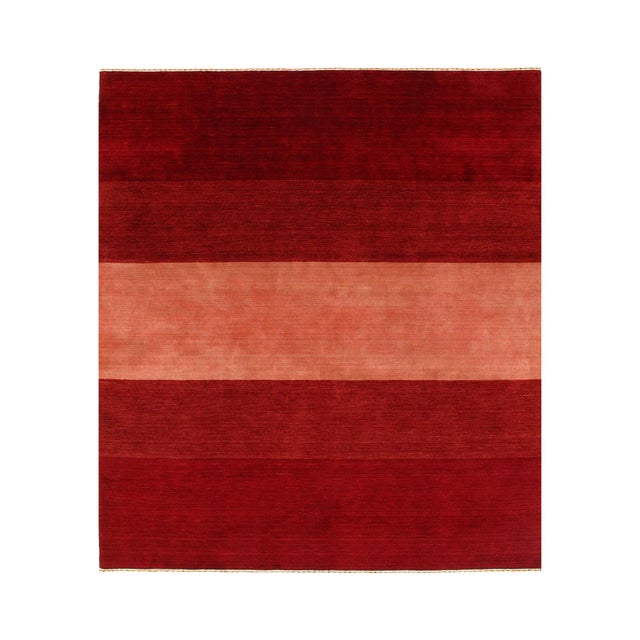 Pasargad Red Persian Hand Knotted Gabbeh Design Rug 8' X 10' For Sale - Image 4 of 4