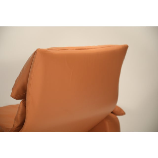 1970s Vintage Giovanni Offredi for Saporiti Lounge Chair and Ottoman For Sale - Image 9 of 13