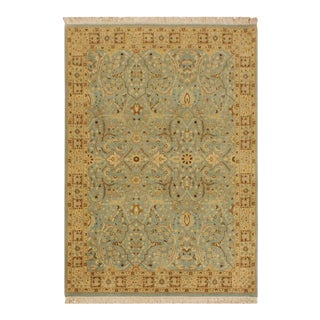Istanbul Jean Blue/Ivory Turkish Hand-Knotted Rug -4'2 X 6'2 For Sale