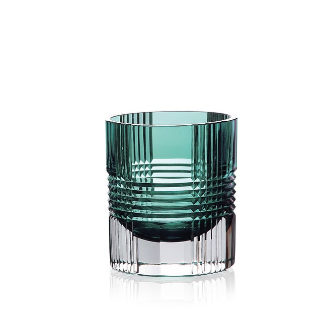 Artel Viden Double Old Fashioned Glasses, Assorted Colors, Set of 6 (Smoke, Teal, Chartreuse, Blue, Rose, Amber) For Sale - Image 4 of 9