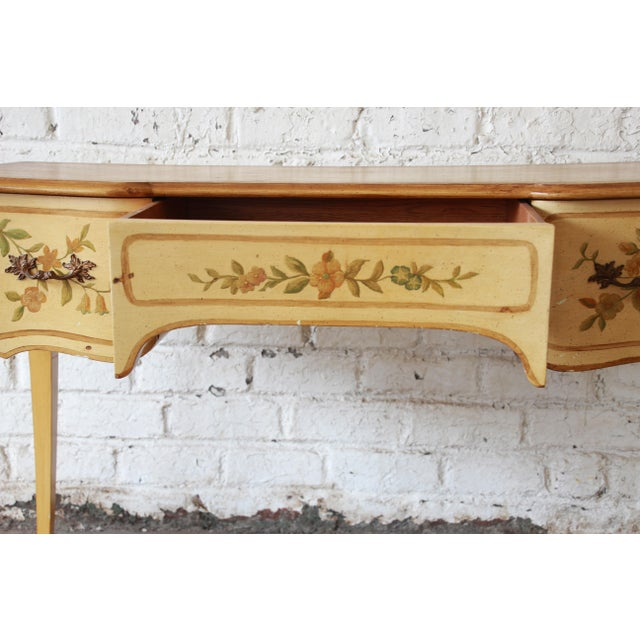 Paint John Widdicomb Vintage French Writing Desk For Sale - Image 7 of 12