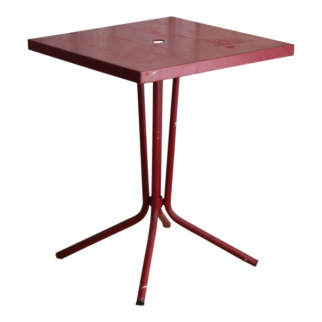 Vintage French Red Garden Table - Image 1 of 8
