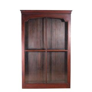 Victorian Black Walnut Wall Display Cabinet