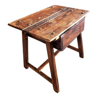 Rustic Early 19th Century Swedish Country Side Table For Sale
