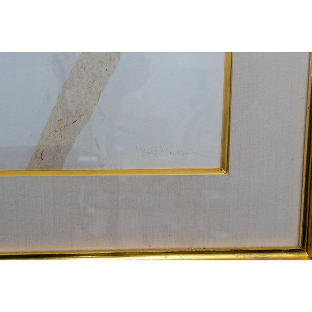 Abstract Mixed Media Painting by American Artist Harold Larsen For Sale In West Palm - Image 6 of 13