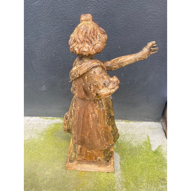 Late 18th Century 18th Century Italian Giltwood Figure For Sale - Image 5 of 13