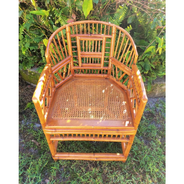 Vintage Mid Century Brighton Tiger Bamboo Chairs- A Pair For Sale In Orlando - Image 6 of 13