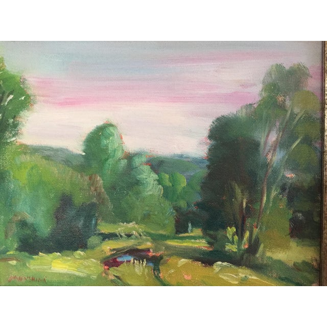 Wood Missouri Ozark Countryside Impressionistic Plein Air Painting For Sale - Image 7 of 8