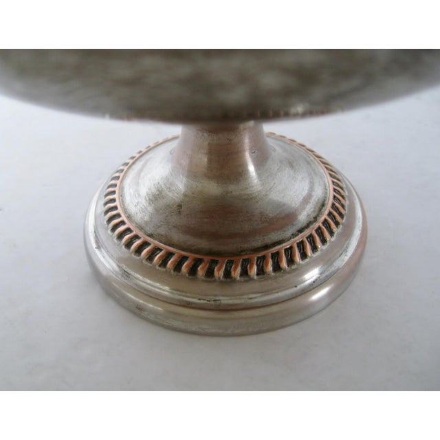 Early 20th Century Silver & Copper Decorative Coupe For Sale - Image 5 of 7