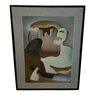 """1930s Surrealist Painting """"Primitive in Eclipse"""" by William Gamble For Sale"""