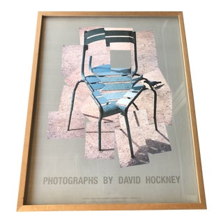1986 Photographs by David Hockney Chair Jardin Du Luxembourg Framed Poster For Sale