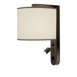 Led Penny Bronze Wall Light With Shade For Sale